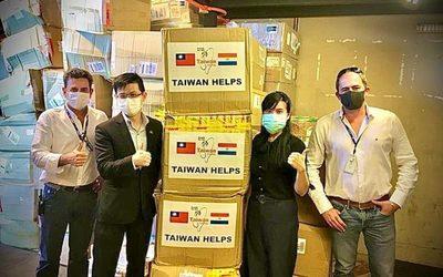 COVID19: Paraguay recibe 280.000 mascarillas de Taiwan