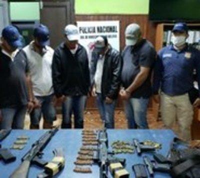Caso Samura: Detienen a 5 presuntos sicarios con fusiles y pistolas