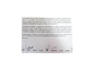 Admiten caso de sindicalistas de Itaipú y les citan a medidas