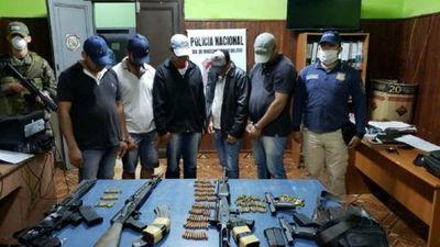 Caso Samura: Capturan a presuntos rescatistas con fusiles y pistolas