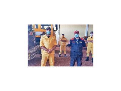 Bomberos de Minga Guazú en paro total ante reducción de aporte municipal