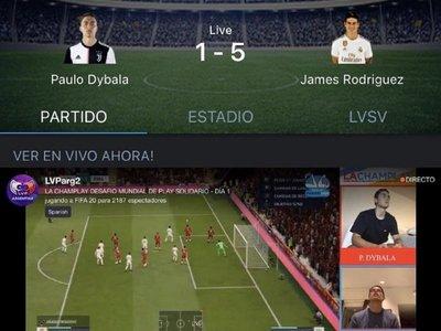 James derrota a Dybala y se queda con el título del torneo virtual solidario