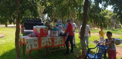 Más de 200 personas almorzaron gracias a olla popular en Horqueta