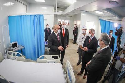 Gobierno entrega en tiempo récord el primer hospital de contingencia en INERAM