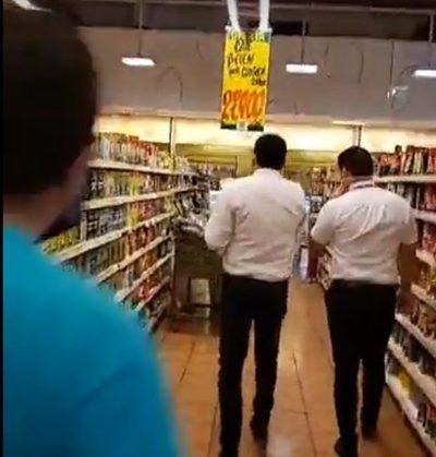 Intervienen supermercado en Presidente Franco