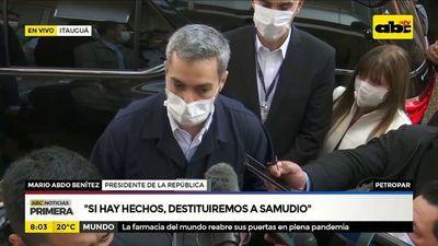 """Mario Abdo: """"Si hay hechos destituiremos a Samudio"""""""