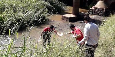 Tomaron muestras de arroyo San Lorenzo