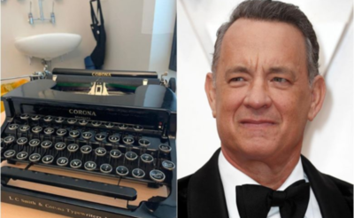 Tom Hanks regaló una máquina de escribir a niño de 8 años que sufre bullying por llamarse Corona
