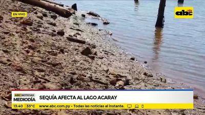 Sequía afecta al lago Acaray