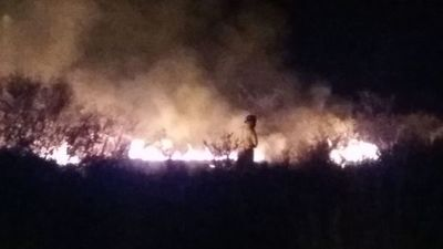 Incendio de grandes proporciones en un baldío en Surubi'i