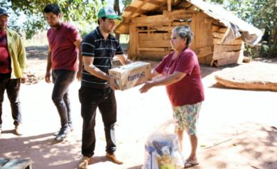 HOY / Habitantes de distintas zonas de Alto Paraná reciben kits de alimentos