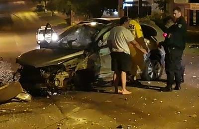 Policía OCULTO siniestro provocado por POLITICO-GERENTE de Tesai estando BORRACHO
