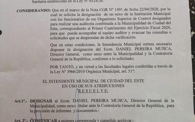 Municipalidad de CDE prepara informes para presentar a la Contraloría