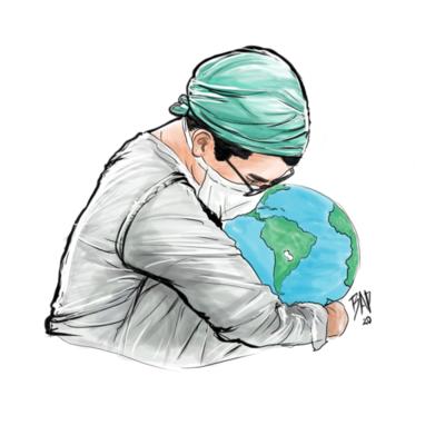 Bruno Aranda, ilustrador que se inspira en la pandemia para sus obras