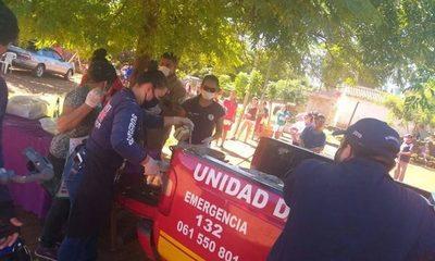 Bomberos de Franco alimentan a familias mediante ollas populares