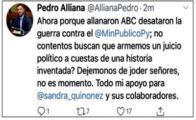 Alliana afirma que no llevará juicio basado en historias falsas