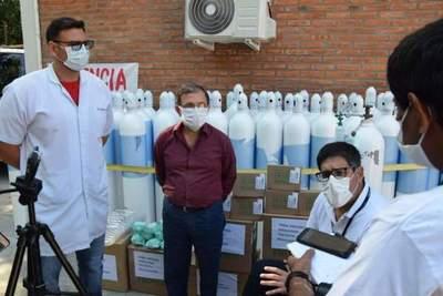 La Octava Región Sanitaria recibió 60 tubos de oxígeno por parte de la EBY