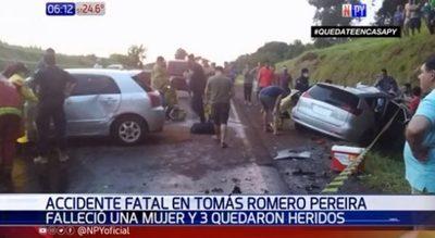 Mujer pierde la vida tras choque frontal en Itapúa