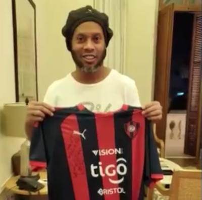 El monto pagado la camiseta de Cerro autografiada por Ronaldinho