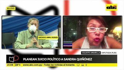 Planean juicio político a Sandra Quiñonez