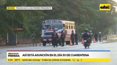 Así está Asunción en el día 50 de cuarentena