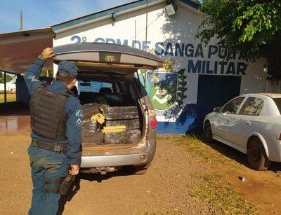 Incautan en Ponta Porã vehículo repleto de marihuana