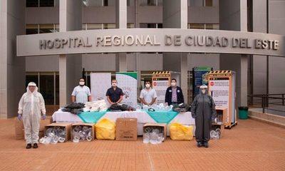 STEIBI dona insumos y equipos de bioseguridad a IPS de Ciudad del Este