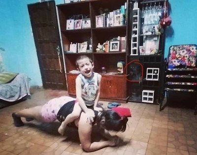 """Gato fantasma""visita a familias en la cuarentena"