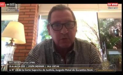 Senadores rechazan pedido de desafuero de Javier Zacarías