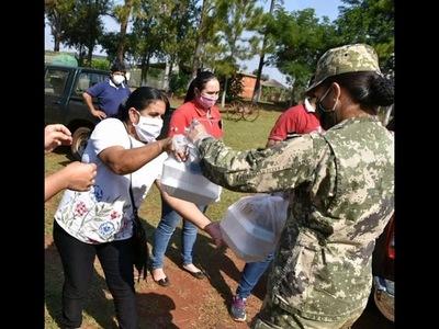 LA PAZ, FRAM Y CAMBYRETÁ RECIBIERON PLATOS DE ALIMENTOS  POR LA GOBERNACIÓN DE ITAPÚA Y OPD