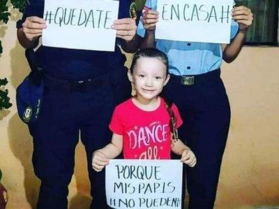 Pareja de policías y su hija piden consciencia para vencer al coronavirus