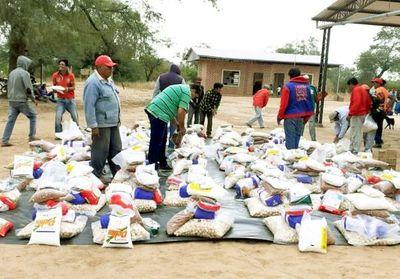 Llegan más kits de alimentos a Boquerón