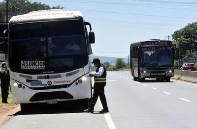 Mañana vuelven a operar   buses desde Cordillera y Paraguarí