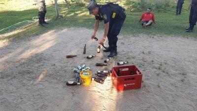 Detenidos por juntarse a beber alcohol y jugar piki voley en plena cuarentena