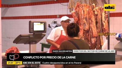 Conflicto por precio de la carne