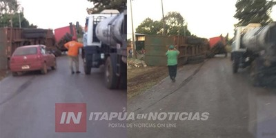 AHORA: ACCIDENTE DE TRÁNSITO EN MARÍA AUXILIADORA.