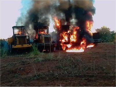 Fuerza de Tarea Conjunta indaga quema de tractores en Concepción