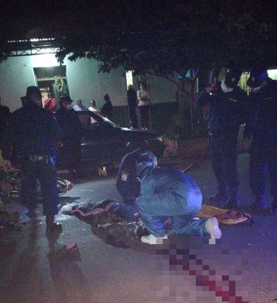 Dos fallecidos en accidente de moto en Pedro Juan