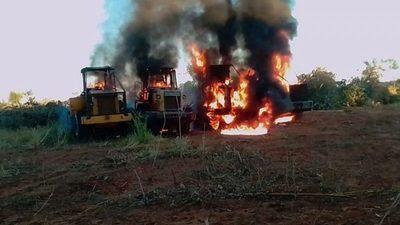 Grupo armado ataca estancia en Yby Yaú y quema tractores