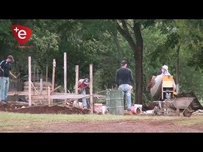 CONSTRUYEN PUESTO DE GUARDIA PARA MILITARES EN EL PENAL DE ITAPÚA