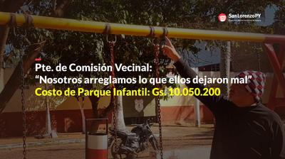 """Plaza Amistad. Otro despilfarro del dinero de los sanlorenzanos (""""Tragada"""" III)"""