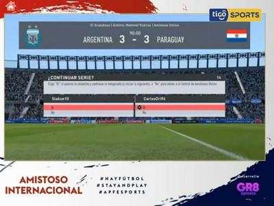 Derlis González y Sergio Agüero empatan en el primer partido