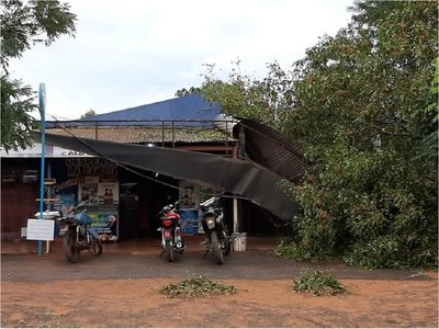 Temporal causó destrozos en Santa Rosa del Aguaray