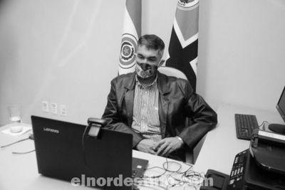 Gobernador Acevedo defiende los intereses del departamento de Amambay en videoconferencia con el presidente Marito