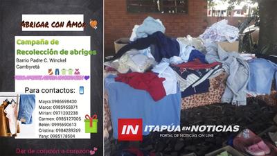INVITAN A CAMPAÑA DE RECOLECCIÓN DE ABRIGOS EN CAMBYRETÁ