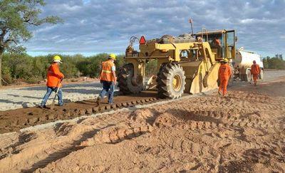 Falta de agua dificulta trabajos de  reconstrucción de Ruta Transchaco
