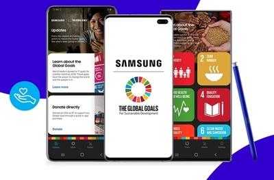 En casa con Galaxy: es el momento de una acción social con la aplicación Samsung Global Goals