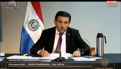Se inicia la interpelación virtual al ministro Eduardo Petta