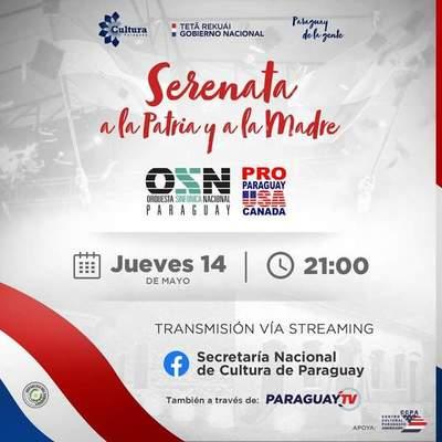 Ofrecerán una serenata virtual por los 209 años de Independencia Nacional