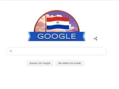 Con doodle tricolor, Google rinde un homenaje a Paraguay